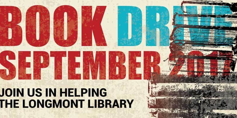 Parry's Book Drive to Support Longmont Library