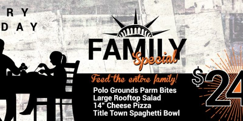 Feed the Family on Sunday at Parry's Pizza