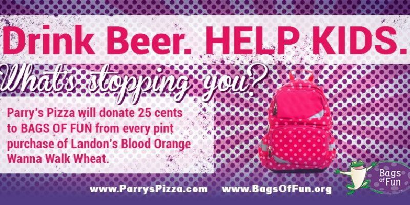 Support Bags of Fun at Parry's Pizza