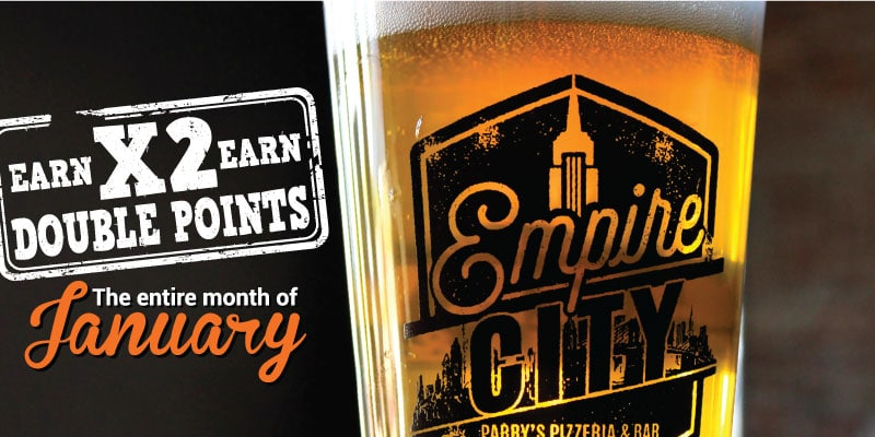 Double Points in January for Empire City Members